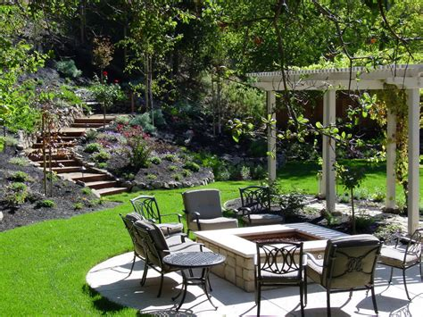 Backyard Design Ideas With Fire Pit Large And Beautiful Backyards With Pits
