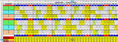 Calendario 5 Turnos Antiestres Turno 6x6