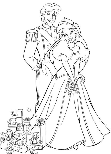 coloring pages ariel and eric ariel and prince eric coloring pages coloring home
