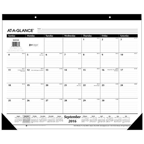 23 off at a glance academic year monthly desk pad