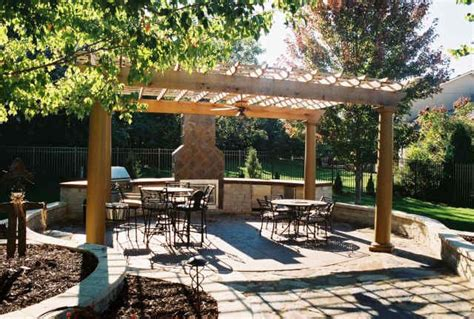 pergola pergola design gazeboremodeling kansas city landscape design pictures backyard kitchen spa pergola
