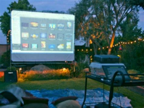 how to make a backyard movie theater how to build your own outdoor theater outdoor movie
