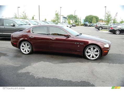 red maserati quattroporte bordeaux pontevecchio dark red metallic 2007 maserati