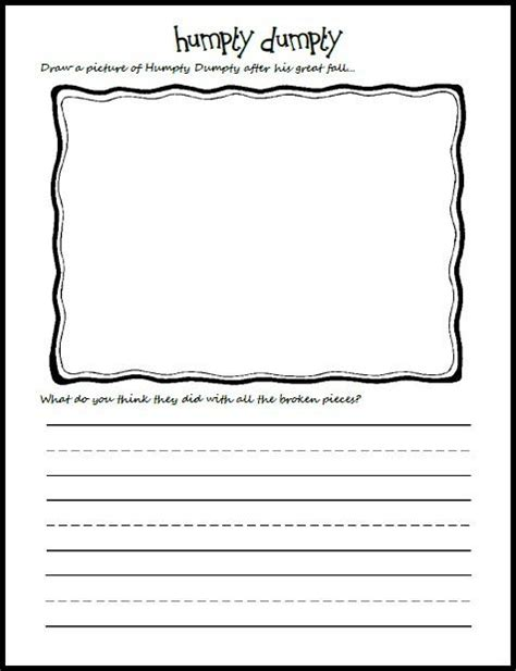 Printable Journal Pages Kindergarten | 7 best images of printable journal pages for kindergarten