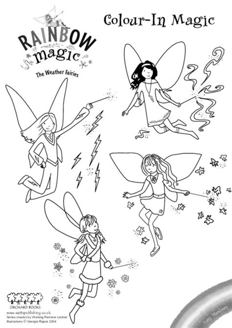 Rainbow Fairies Coloring Pages Rainbow Magic Colouring Scholastic Kids Club by Rainbow Fairies Coloring Pages