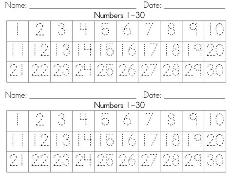 free printable tracing numbers 1 30 worksheets free number tracing worksheets 1 50 1000 images about