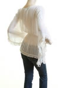 20686 Import Soft Cotton Top Tassel ivory cotton embroidery batwing kimono tassel peasant blouse top ebay