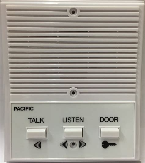pacific apartment intercom station 3406 universal replacement 5 6 wired system ebay