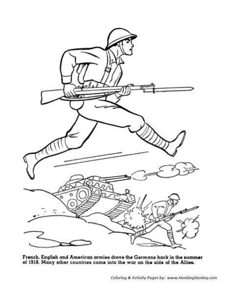 World War One Soldier Coloring Pages World War 1 Coloring Pages