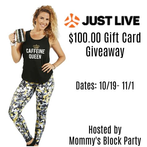 Live Gift Card Giveaway - focus on good health in just live activewear 100 00 gift card giveaway mbphgg17
