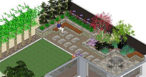L Shaped Garden Design Ideas Willow Garden Design Garden Design