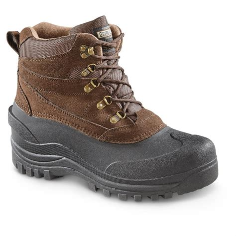 mens insulated snow boots guide gear s insulated winter boots 600 grams