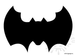 cut out template bat template to cut out coloring page