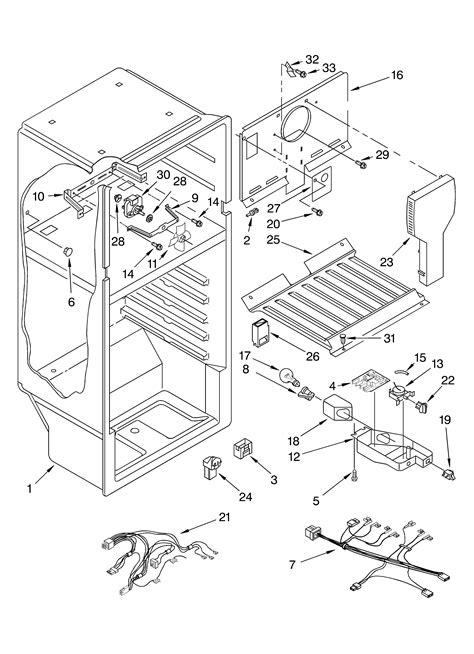 roper refrigerator parts diagram liner diagram parts list for model rt18bkxkq00 roper