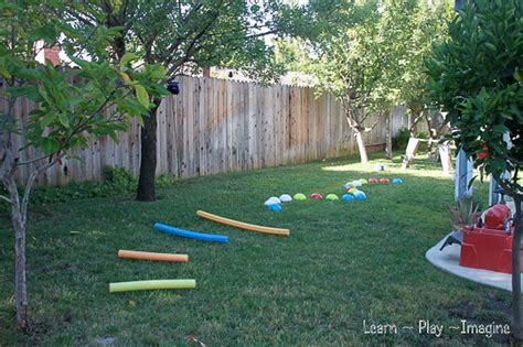 Backyard Obstacle Course Activities For
