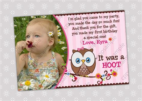 thank you card wording for birthday gift card invitation design ideas 1st birthday photo thank you