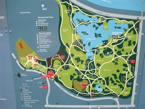 Map Of The Gardens Picture Of Royal Botanic Gardens Botanical Gardens Melbourne Map