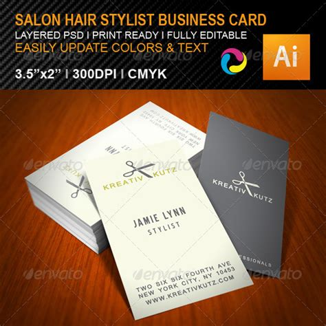 business card template hair salon 20 cool salon business card templates