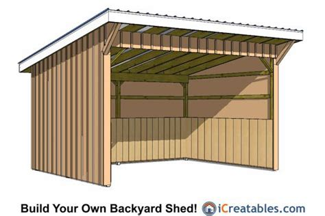 run  shed plans lean  shed plans run  shed