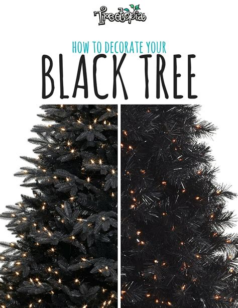 catchy collections of black christmas tree uk perfect