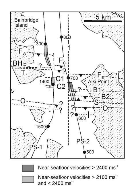 seattle fault map crustal faults