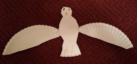 Paper Dove Craft - lovenloot holy spirit dove project