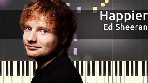 tutorial piano ed sheeran ed sheeran happier easy piano tutorial youtube
