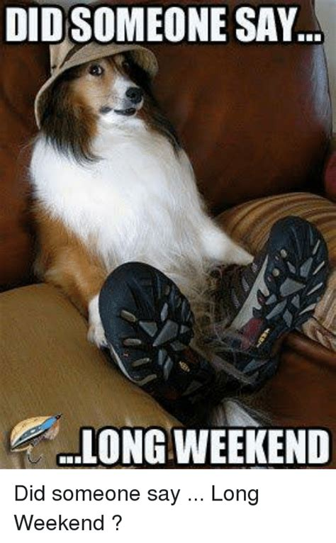 Long Weekend Meme - didsomeone say long weekend did someone say long weekend