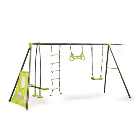 swing and slide sets nz swing slide climb 6 function swing set bunnings warehouse