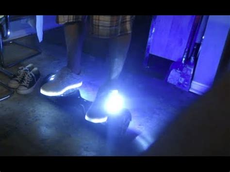 hoverboard light up shoes light up shoes on hands free segway youtube