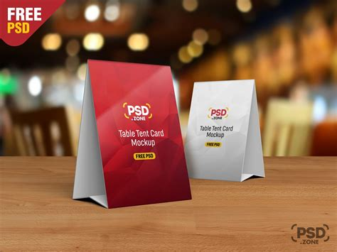 table tent cards template free table tent card mockup template psd