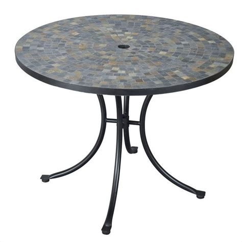 Black Patio Table Outdoor Dining Table In Black Slate 5601 30