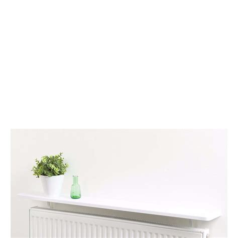 square radiator shelf 600x150x25mm gloss white ebay