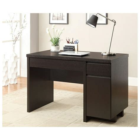 furniture corner black wooden small desks with drawers