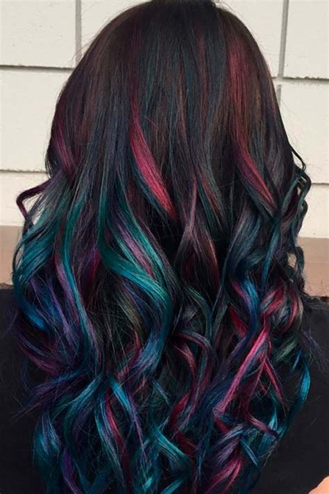 rainbow color hair ideas best 20 rainbow hair ideas on pinterest