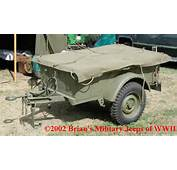 Jeep 1/4 Ton Trailer Page Willys MBT Bantam T 3 M 100 416 K 38