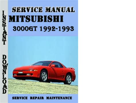 free online car repair manuals download 1993 mitsubishi 3000gt navigation system service manual 1993 mitsubishi 3000gt service manual free printable mitsubishi 3000gt 1991