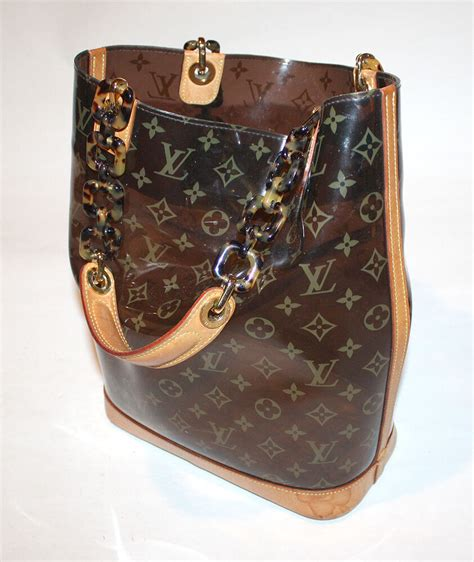 authentic louis vuitton monogram vinyl ambre amber sac