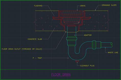 Floor Drainage     Free CAD Blocks And CAD Drawing