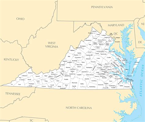 city map of virginia virginia cities and towns mapsof net