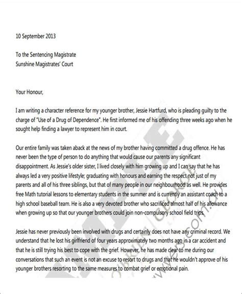 Character Letter Exle For Court character reference letter enforcement 28 images sle