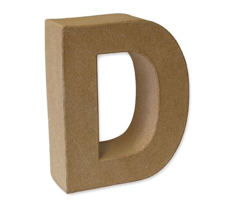 papier mache 3d alphabet letter shapes large 17cm high