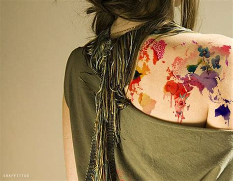 world map map tattoos the world is a book and the coolest world map tattoos