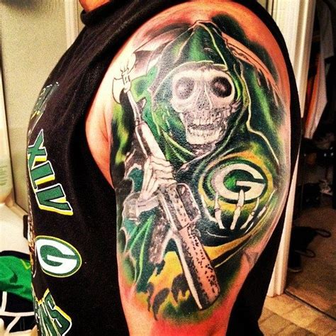 packers tattoo 20 best green bay packers s images on