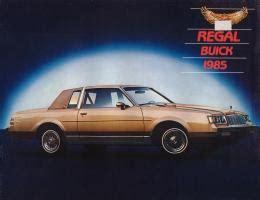 old car manuals online 1985 buick skylark seat position control 1985 buick regal brochure