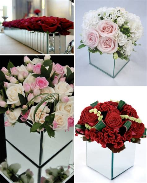 Mirror Vases Centerpieces by Mirrored Vases For Centerpieces Wedding Centerpieces Vases And For The