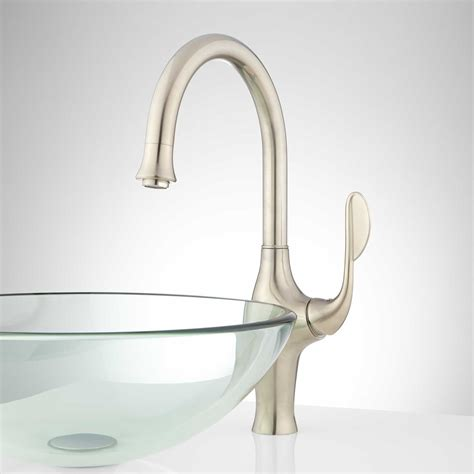 harker single hole kitchen faucet with swivel spout kitchen swivel spout faucet signaturehardware com