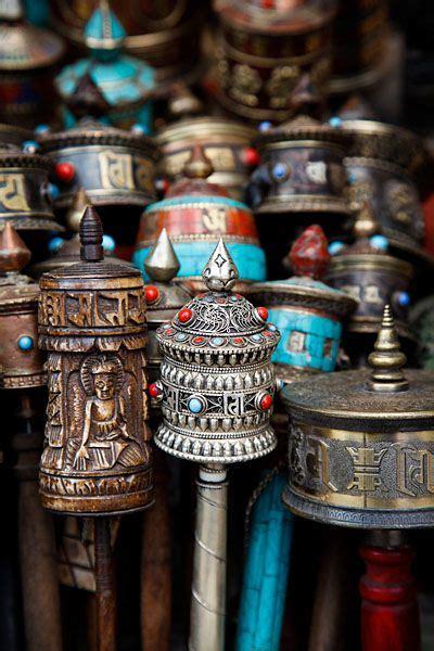 Tibetan Prayer Wheels For Sale At The Unesco World