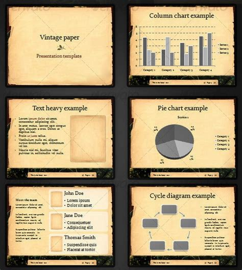 template ppt vintage free beautiful retro and vintage powerpoint presentation