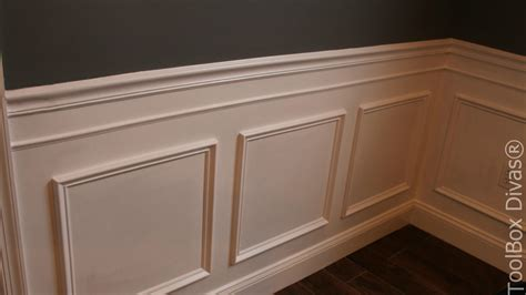 Installing Wainscoting Trim Dining Room Molding Panels Electric Bed Frame